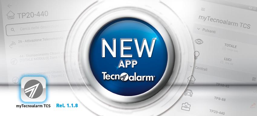 La nuova app myTecnoalarm TCS