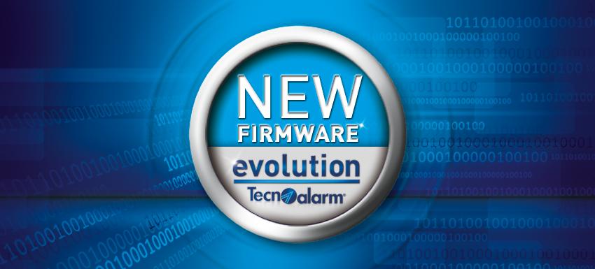 Rilascio nuovi firmware versione 1.4.00 per le centrali Evolution